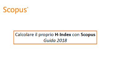 Calcolare il proprio H-index con Scopus