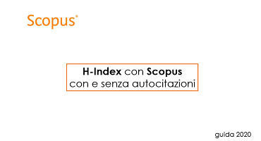 H Index con Scopus con e senza autocitazioni
